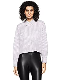 Forever 21 Women's Plain Regular Fit Cotton Shirt