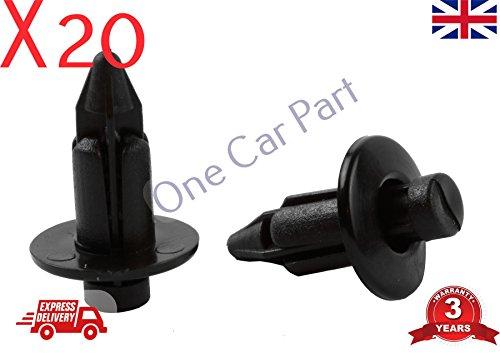 20 x GM Porte Moulure Tableau Plastique Push Clips Attaches