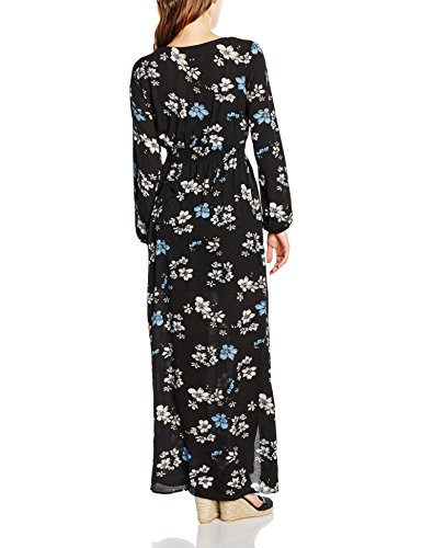 Glamorous Printed, Robe Femme Multicoloured (Black Light Blue Orchid)