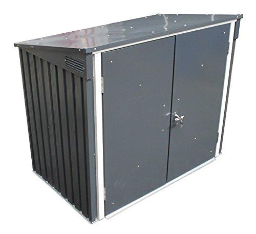 Duramax 5x 3ft Mülleimer Store–Anthrazit Grau/aus weiß