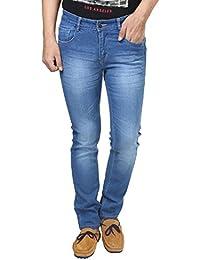 Migo Garments's Men's Denim Stretchable Jeans(Light Blue,28)