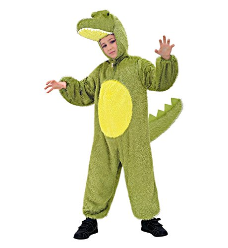 Widmann 9769T - Kinderkostüm Krokodil, Overall mit Maske, Größe (Kostüm Reptilien Mädchen)