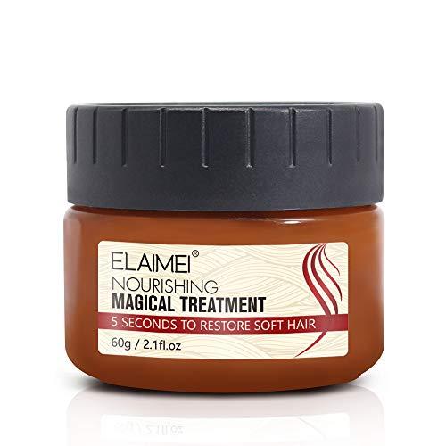 Hair Treatment Mask Magical Hair Conditioner 5 Seconds Hair Root Repair Dry and Damaged Hair,Recover Elasticity Hair,Nourishing Soft Hair 60ML (1 PCS) (1 pcs)