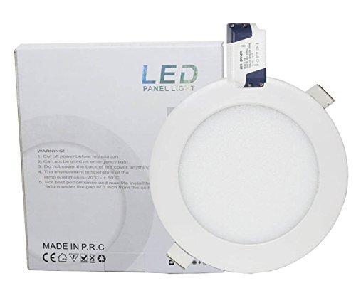 Microondas 9W LED redonda techo Panel de luz 4000K blanco iluminación empotrable...