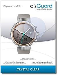 "2 x disGuard® Protector de pantalla Asus Zenwatch 3 WI503Q Protectores de pantalla de película ""CrystalClear"" invisible"