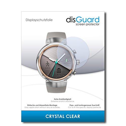 disGuard® Displayschutzfolie [Crystal Clear] kompatibel mit Asus Zenwatch 3 WI503Q [2 Stück] Kristallklar, Transparent, Unsichtbar, Extrem Kratzfest, Anti-Fingerabdruck - Panzerglas Folie, Schutzfolie (3m Crystal Clear)