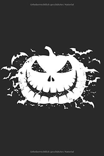 Notizbuch: Halloween Kürbis Fledermaus Notebook A5 liniert I Trick or Treat Geschenk I Grusel Tagebuch oder Journal