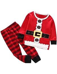 4835feea5d823 2-5 Ans Enfant Mixte Garcon Fille Hiver Ensemble de Pyjama Survetement Pere  Noel