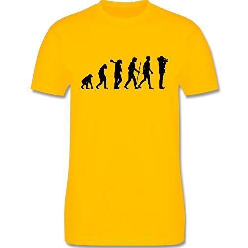 Evolution - Kameramann Evolution - Herren Premium T-Shirt Gelb