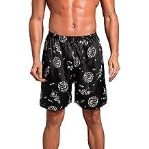 FRAUIT Pantalones Cortos de Pijama de Verano para Hombres Casual Flojo Imprimir Inicio Ropa de Dormir