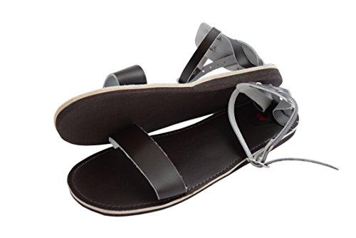Natleat Slippers , Sandales Plateforme fille femme Deep Brown