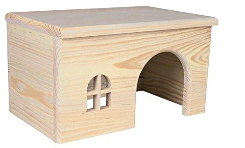 CROCI Maison en Bois avec Fenetre pour Petits animaux 15x12x15 cm