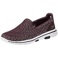 SKECHERS GO WALK 5-MIRACLE Womens Shoes, Purple (Burgundy), 7 UK (40 EU)