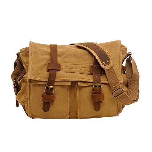 DaoJian-Retro-Canvas-Messenger-Bag-Shoulder-Bag-Weekend-Bag-Hiking-Bag-Travel-Duffel-Bag-Working-Bag-Satchel-Bag-Crossbody-Bag