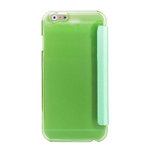 Phone case & Hülle Für iPhone 6 Plus & 6S Plus, Horizontale Flip Leder Tasche mit Call Display ID ( Color : Green ) Green