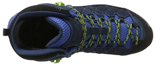 SALEWA Alp Trainer Mid Gtx, Scarpe da Arrampicata Alta Uomo Blu/Verde (Dark Denim/Cactus 0361)