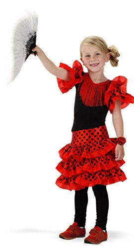 Folat 21827 Spanischen Flamenco-Kleid für Mädchen, Größe 98-116, ()