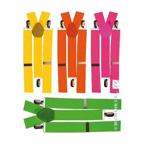 Fluoreszierende Hosenträger für Erwachsene 4fach sort. (1Stück)