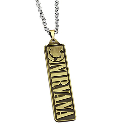 ck Nirvana Band Signs Unplug Rectangle Pendant Halskette-Bronze (nl005614-1) (Harry Potter-promotion-geschenke)