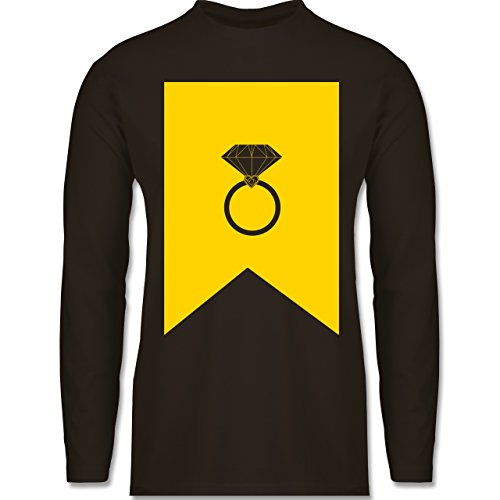 Shirtracer Symbole - Ring Brilliant - Herren Langarmshirt Braun