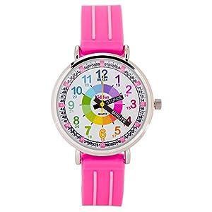Kiddus Kinder Uhr Mädchen Die Uhrzeit Lernen Quarz Analog Gummi Armband Wasserdicht