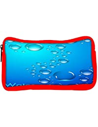 Snoogg Eco Friendly Canvas Abstract Water Drops Background And Space For Your Text Student Pen Pencil Case Coin...