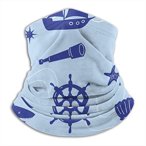 sexy world Sea Adventure Set Scaldacollo Termico in Pile/Scaldacollo Sciarpa facciale/Copricapo Maschera da Sci Invernale per Moto