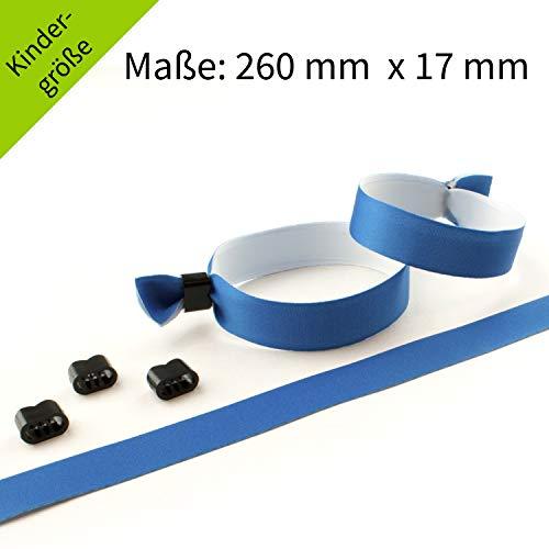Einlassbänder, Kontrollbänder, Stoff bedruckt, verschiedene Motive VE 10 Stück (blau (Kinder)) - Blaue Stück Stoff
