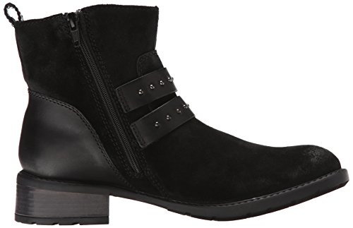 Clarks Swansea Grove Motorcycle Boot Black Suede