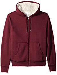 Amazon Essentials Sherpa Lined Full-Zip Hooded Fleece Sweatshirt Uomo