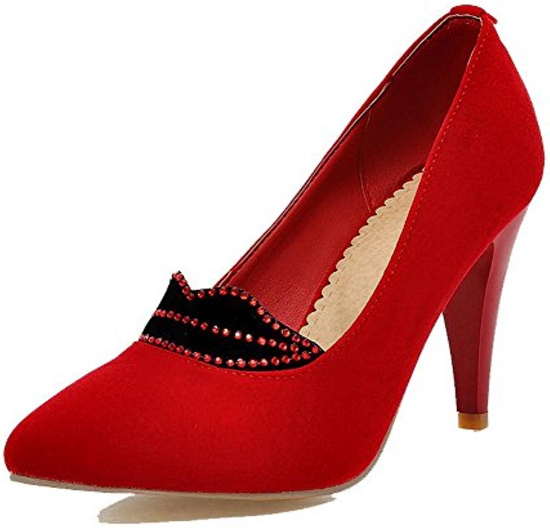 odomolor woHommes 's frosted orteil talons des pompes de de de couleur rouge, 35 b07bbfxtwp chaussures parent 40462a