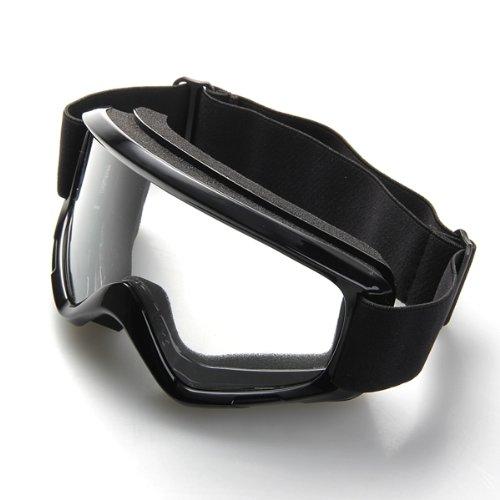 CARCHET® 1x Crossbrille Motocrossbrille Schutzbrille Goggle Winddicht Staubdicht Schwarz