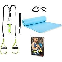 Preisvergleich für POWRX Bodyweight Fitness Set I Trainingszubehör inkl. BodyCROSS Functional Fitness Buch I Versch. Workout Zum Nachmachen