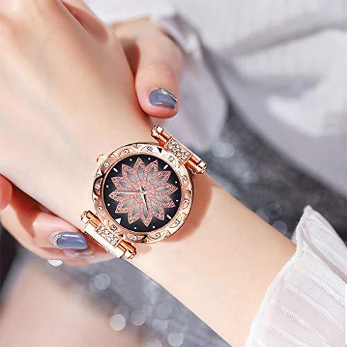 Uhr Armbanduhren Männer Damenuhren Hansee Magnetic Mode Loop Band Diamant Quarz Uhren Für Damen Watch Uhren Herrenuhr(Kaffee)