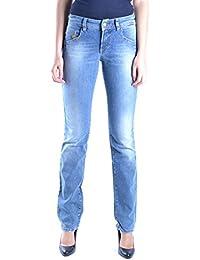Galliano Damen MCBI130013O Blau Baumwolle Jeans