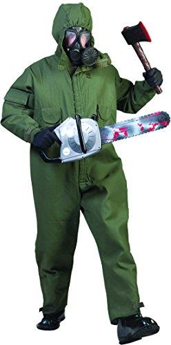 Karnevalsbud - Herren Halloween Karnevals-Kostüm Set Nightmare Horror Army Mann, M, (Tot Army Kostüme Halloween)