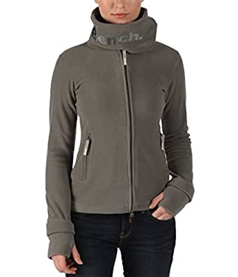 Bench - Pull - Uni - Col montant - Manches longues - Femme - Gris (Dark Grey) - FR: 34 (Taille fabricant: XS)