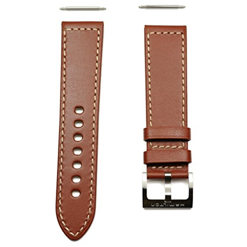 Hamilton, cinturino in pelle marrone kaki da 22/20mm, codice H600.705.106