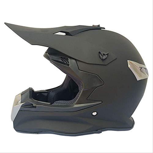 DOUYA Casco Moto, Casco Moto Integrale Copertura Quattro Stagioni Casco Moto Fuoristrada Fuoristrada da Corsa Casco da Discesa,J,S