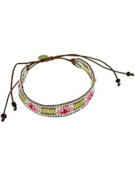 """GLAMOROUS TRIBE"" Armband mit Rocailles Glas-Perlen geknüpft handgewebtes Freundschaftsarmband geflochten Indianer..."