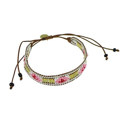 """""""GLAMOROUS TRIBE"""" Armband mit Rocailles Glas-Perlen geknüpft handgewebtes Freundschaftsarmband geflochten Indianer Hippie Boho Schmuck, FESTIVAL EDITION, A-F17-13 (Am Kostüme Hippie Besten)"""