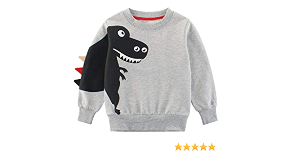 EULLA Jungen Weihnachtspullover Rentier Sweatshirt Geschenk Kinder Langarm Dinosaurier T-Shirt Tops Rundhals Pullover Hoodies Casual Outfit Kleidung Alter 1-7 Jahre