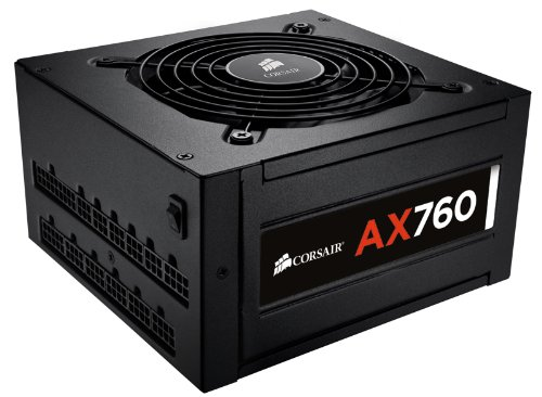 Corsair AX760 Professional Series 760 Watt ATX Power Supply Unit (80 PLUS Platinum Certified) (Power Supply 750w Platinum)