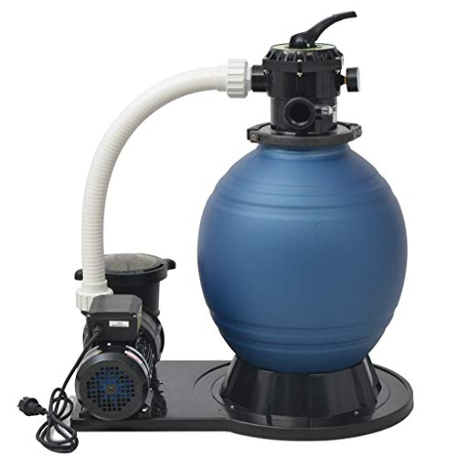 vidaXL Sandfilter 1000W 16800L/h XL Poolfilter Sandfilteranlage Filteranlage
