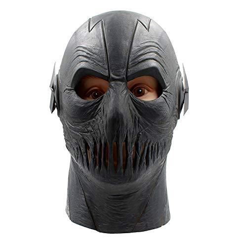 AKCHIUY Schwarzer Latex Cosplay Voller Kopf Helm Maske Halloween Karneval Cosplay Kind Erwachsener Flash Maske,Unisex-OneSize