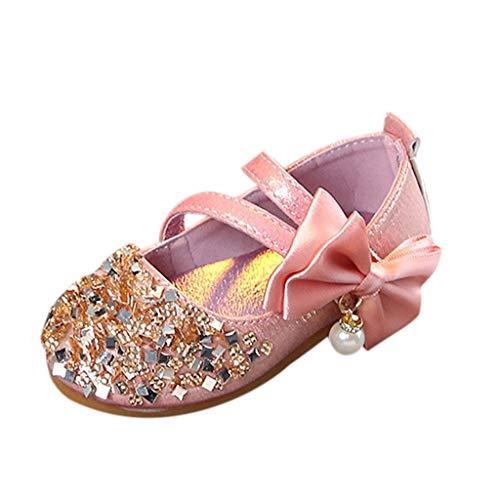 Einzelne Schuhe Kinder Pailletten Gummiband Einzelne Schuhe Kleinkind Niedlich Schuhe Prinzessin Schuhe Tanzschuhe Kinder Baby Kleinkind Mädchen Pailletten Bling Schuhe (27 EU, Rosa ()