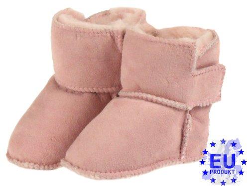Em Artmoda Botas Shearling Bebê Paula, Sapatos De Bebê Com Velcro Rosa
