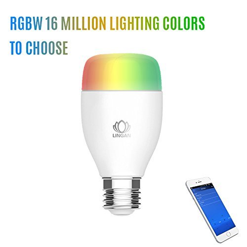 Ampoule WiFi,ELEGIANT lumière chaude Ampoule Bulb en Colore Dimmable Lampe intelligente multicolor LED light bulb -Toute les couleurs de l'arc en ciel Compatible Amazon Elexa Echo