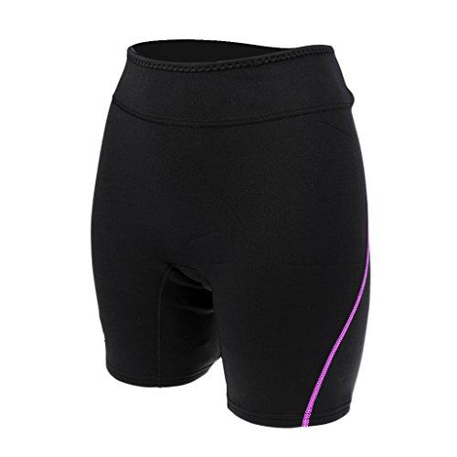 MagiDeal Short Natation en Néoprène 1,5mm Vêtement Sport Nautique Anti-UV Boxer - Violet Femme, L