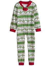 Zolimx Family Anzug Overall Passende Weihnachts-Pyjamas Daddy und Mom Kinder Baby Familie Nachtwäsche Xmas Pajamas Set